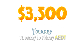 $3,500 Haunted Pokies Tourney October 2019: Tuesday to Friday