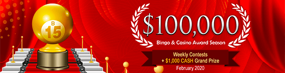 $100,000 Bingo & Casino Award Season - February 2020