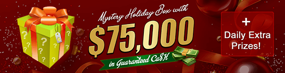 Mystery Holiday Box with $75,000