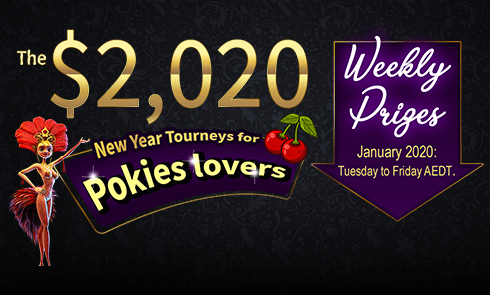 The $2,020 New Year Tourneys for Pokies lovers